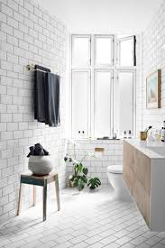 Black And White Bathroom Tiles Ideas by Best 20 White Tile Bathrooms Ideas On Pinterest Modern Bathroom