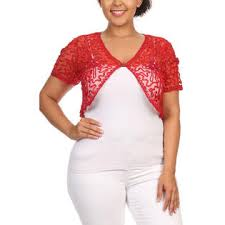 Plus Size Cropped Cardigan Curvyluv Com Womens Plus Size Shrug Short Sleeve Sheer Dressy