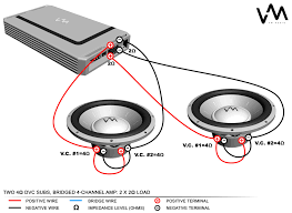 new wiring diagram for dual ohm subwoofer car on elegant