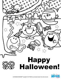 mr men and little miss coloring pages with happy halloween