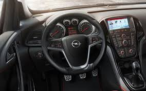 opel astra opc interior 2014 opel astra interior view driving in line