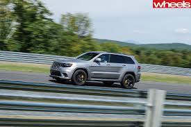 trackhawk jeep black 2018 jeep grand cherokee trackhawk review wheels
