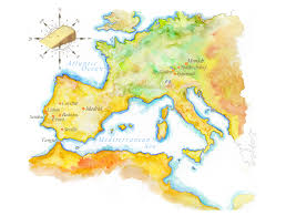 Map Of Eu Handpainted Map Of Europe Europe Map