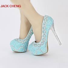 pearl wedding shoes aliexpress buy handmade popular yellow green color pearl