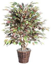 4 artificial potted mystic ficus tree in brown pot