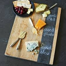 chalkboard cheese plate wood and slate cheese board sur la table home decor