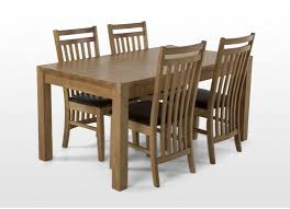 Wooden Dining Table Furniture Contemporary Oak Dining Table And Four Chairs Cecelia
