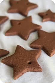 glitter glittered cinnamon ornaments add the glitter right