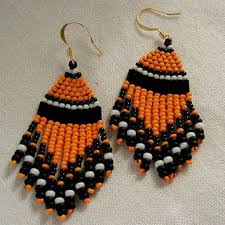 halloween native american style beaded from simplybeadedtreasure