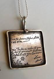 custom handwriting necklace actual handwriting bracelet memorial jewelry custom handwriting