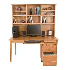 solid wood writing desk with hutch
