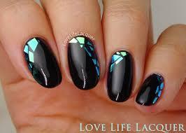love life lacquer mosaic gel nails using foil nail art