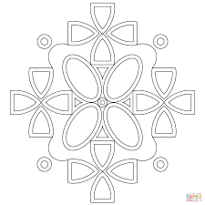 symmetric mandala coloring page free printable coloring pages