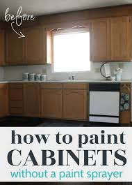 best ways to paint kitchen cabinets painting oak cabinets white an amazing transformation