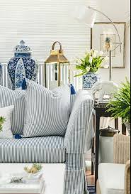 Striped Home Decor Fabric Navy Striped Sofa Decorating Ideas Amazing Simple With Navy