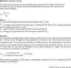 Floor Math by Triangle Kanban Sizing Lean Math