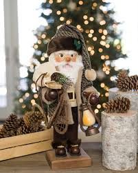 german santa nutcracker with snow shoes balsam hill