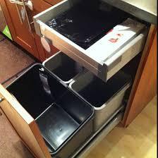 Best KitChen  Trash Can Images On Pinterest Kitchen Kitchen - Kitchen cabinet garbage drawer