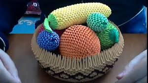 how to make a fruit basket how to make 3d origami fruit basket dailymotion