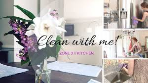 speed clean with me by zones kitchen cleaning routine youtube