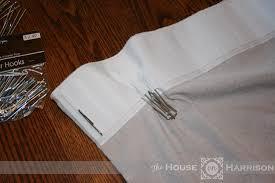 Curtain Hooks Pinch Pleat My New Drop Cloth Curtains