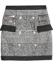 tweed skirt on sale now 40 balmain tweed skirt with wool cotton