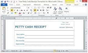 free petty cash receipt template for word with 3 receipts per page