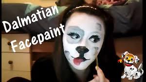 dalmatian facepainting youtube