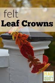 felt leaf crowns felt leaves leaf crown and simple crafts