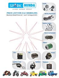 minda products price list ignition system electrical wiring