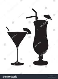 margarita silhouette two cocktail silhouettes stock vector 377394151 shutterstock