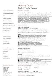 Teaching English Abroad Resume Sample by Resume Format English Teachers English Resume Jianbochencom Cv
