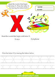 kids under 7 alphabet worksheets trace and print letter x
