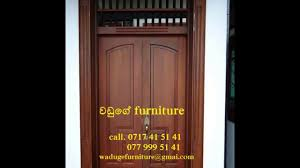 Wood Furniture Door House Door And Window Designs In Waduge Furniture Youtube