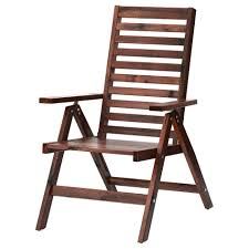Fold Up Bar Stool Furniture Sturdy Outdoor Restaurant Furniture Brown Stained Bar