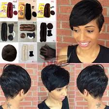 cute hairstyles with remy bump it hair short hairstyle simple pixie cuts 100 short weave human hair for