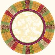 autumn thanksgiving supplies paper plates and napkins
