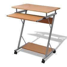 bureau avec tablette coulissante only 48 92 bureau d ordinateur avec tablette coulissante finition