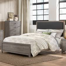 homelegance 2042 contemporary queen bed with upholstered headboard