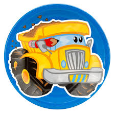 dump truck construction pals dump truck dinner plates birthdayexpress com