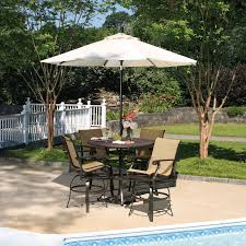 Pub Height Patio Table Patio Furniture Sets Bar Height Among White Umbrella Furniture