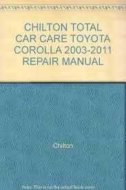 toyota corolla 2003 2011 repair manual haynes amazon com books