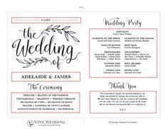 tea length wedding programs templates free rustic wedding program template tea length we do print on kraft or