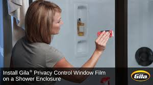 Gila Frosted Window Film Install Gila Privacy Control Film On A Shower Enclosure Youtube