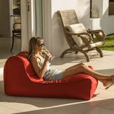 Red Chaise Lounge Sofa by Outdoor Bean Bags Studio Lounger Toro Red Bean Bag Sofa