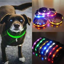 collar light for small dogs 2018 nylon led dog collar light night safety led flashing glow pet