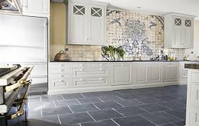 Grey Kitchens Ideas White Cabinet And Grey Ceramic Floor Tiles For Cottage Style