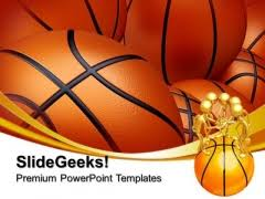 basketball sports powerpoint template powerpoint themes
