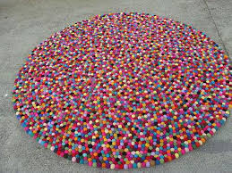 Nepal Felt Ball Rug Felt Ball Rug 120 Cm Freckle Rug Pom Pom Rug Nepal Felt Rug