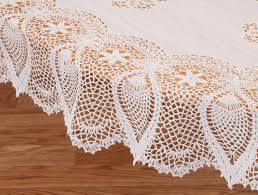Oval Vinyl Tablecloth Miles Kimball White Vinyl Lace Tablecloth 60